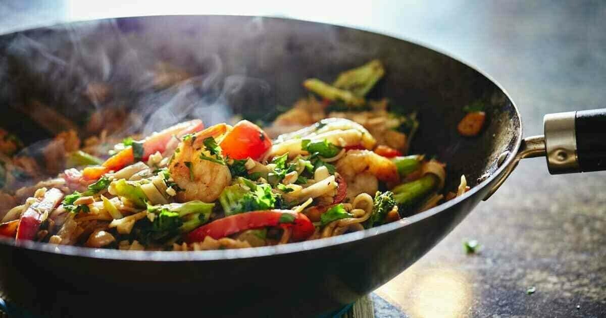 Sauté de légumes et crevettes teriyaki