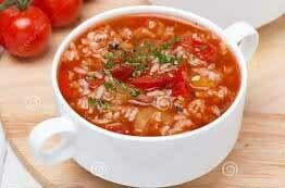 Soupe riz et tomates