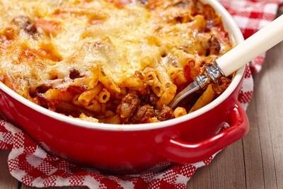 Macaroni au boeuf haché gratiné