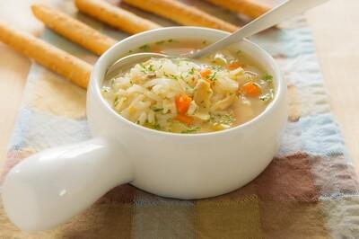 Soupe riz et poulet
