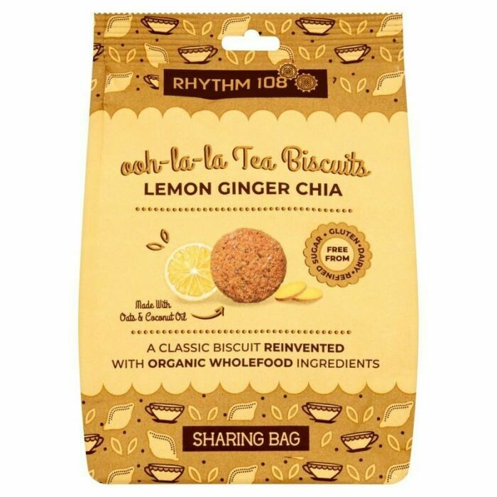 Lemon Ginger Chia Biscuit Bag to share