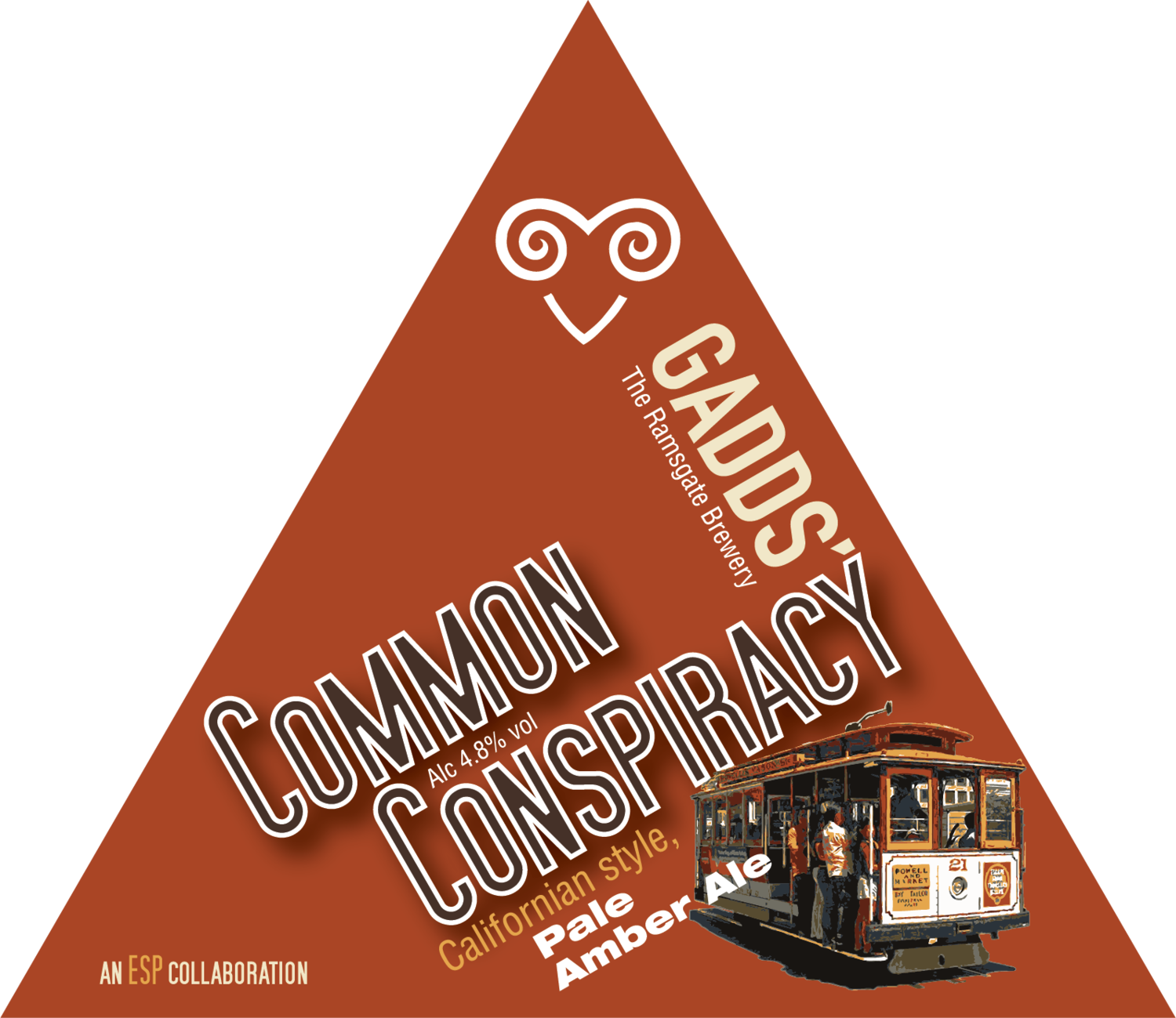 GADDS' Draught Common Conspiracy  Available in 4-pint bag, 10 litre and 20 litre bag-in-box