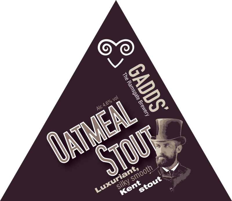 GADDS' Draught Oatmeal Stout  Available in 4-pint bag, 10 litre and 20 litre bag-in-box