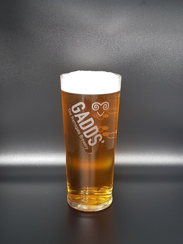 GADDS' full pint glass