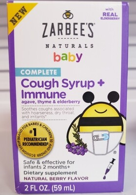 Zarbee's Baby Cough Syrup + Immune