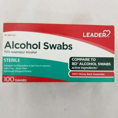 Alcohol Swabs 70% Isopropyl Alcohol 100ct