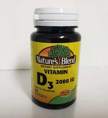 Nature's Blend Vitamin D3 2000IU