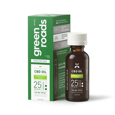 APPLE KIWI BLISS BROAD SPECTRUM CBD OIL, 25MG/ML (CALL TO ORDER)