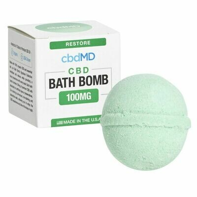 CBD Bath Bomb Restore CBD- BLEND-100MG (CALL TO ORDER)