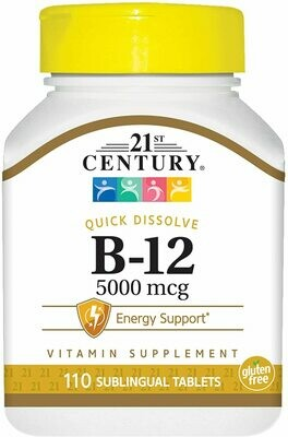 21st Century Sublingual Vitamin B-12 5000mcg 110ct