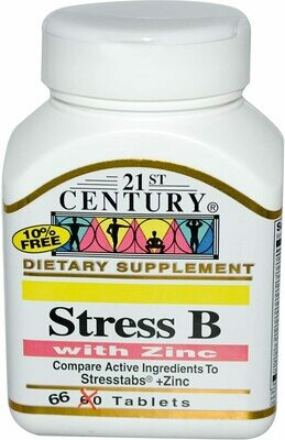 Stress B with Zinc 21st Century tabs 66ct