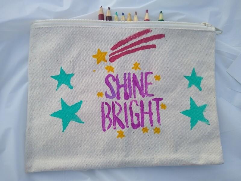 Shine Bright Canvas Pouch
