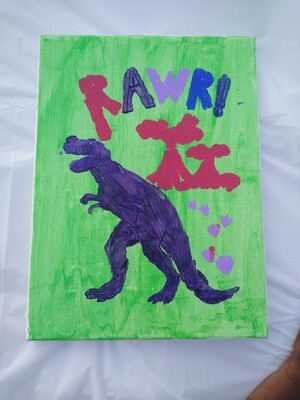 RAWR Dinosaur Painting