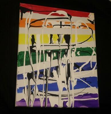 Rainbow Pour Paint