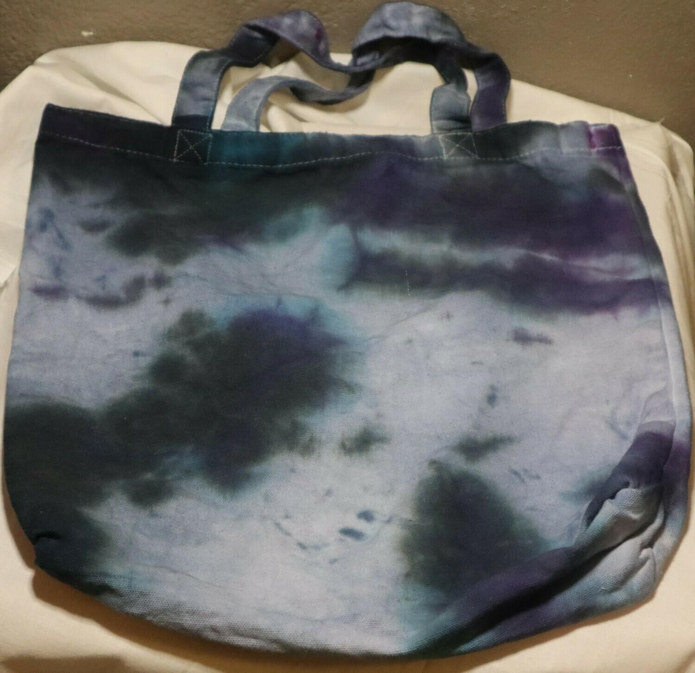 Tie Dye Splatter Dark Blue Tote Bag