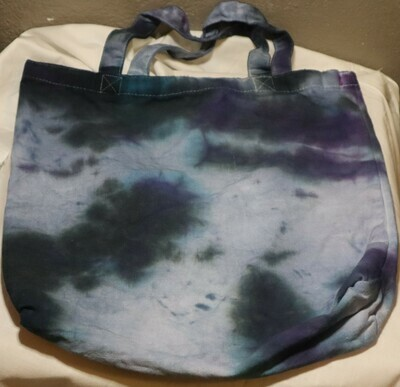 Tie Dye Splatter Dark Blue Tote Bag