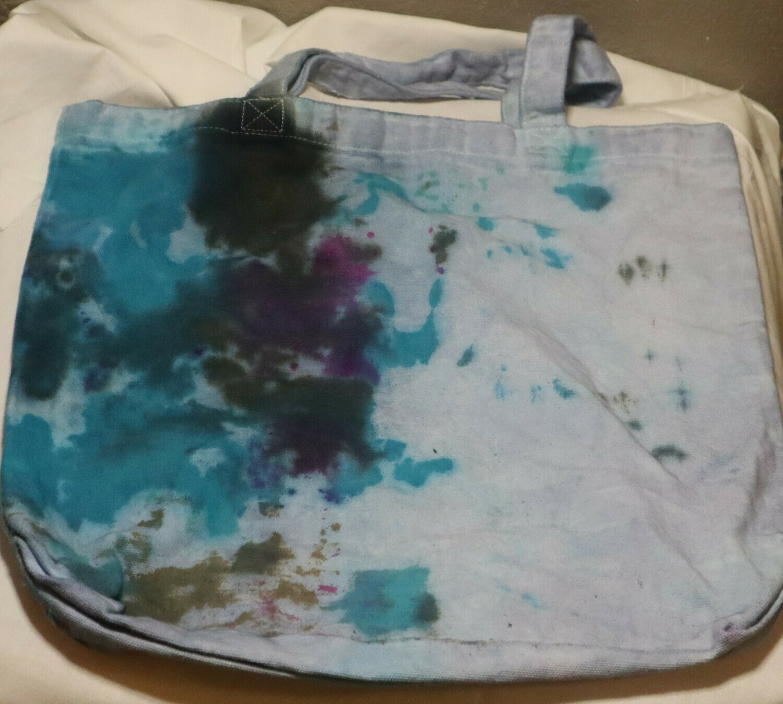 Tie Dye Light Blue Splatter Tote Bag