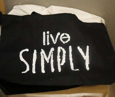 Black Live Simply Tote Bag