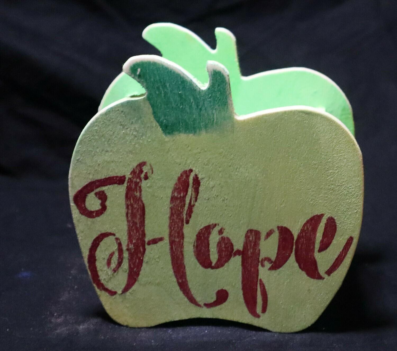 Hope Apple Wooden Box