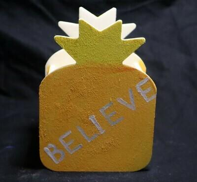 Believe Pineapple Wooden Box