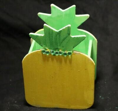 Yellow Pineapple Wooden Box