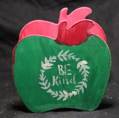 Be Kind Apple Wooden Box