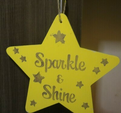 Sparkle & Shine Wood Star