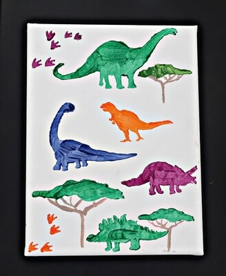 Dinosaurs Canvas Painting