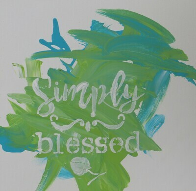 Simply Blessed Canvas Painting