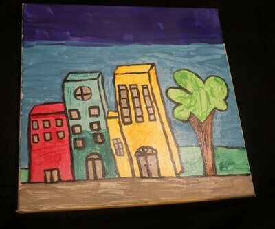 A Town Canvas Painting