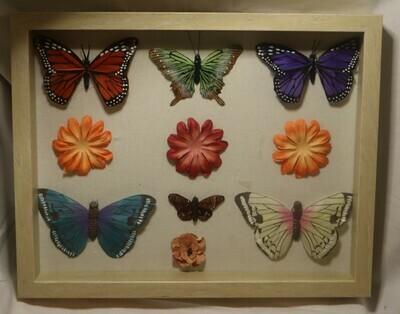 Flowers + Butterflies Shadow Box