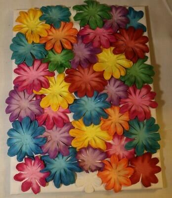 3D Art Flowers on a Canvas