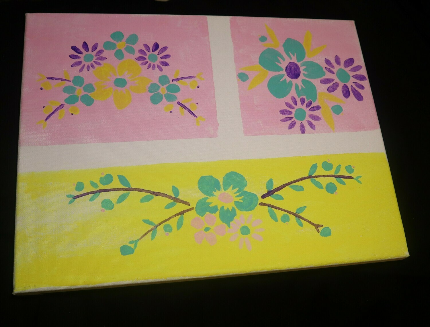 Flowers Flowers Canvas Painting