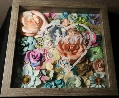 Mom Colorful Flowers Shadow Box