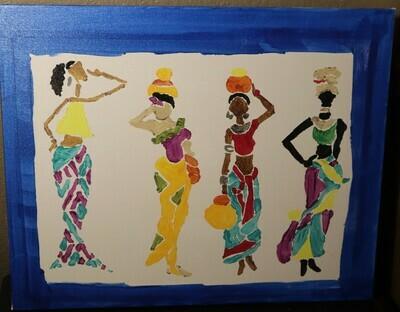 Four Ladies Canvas Painting