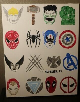Superheroes Painting