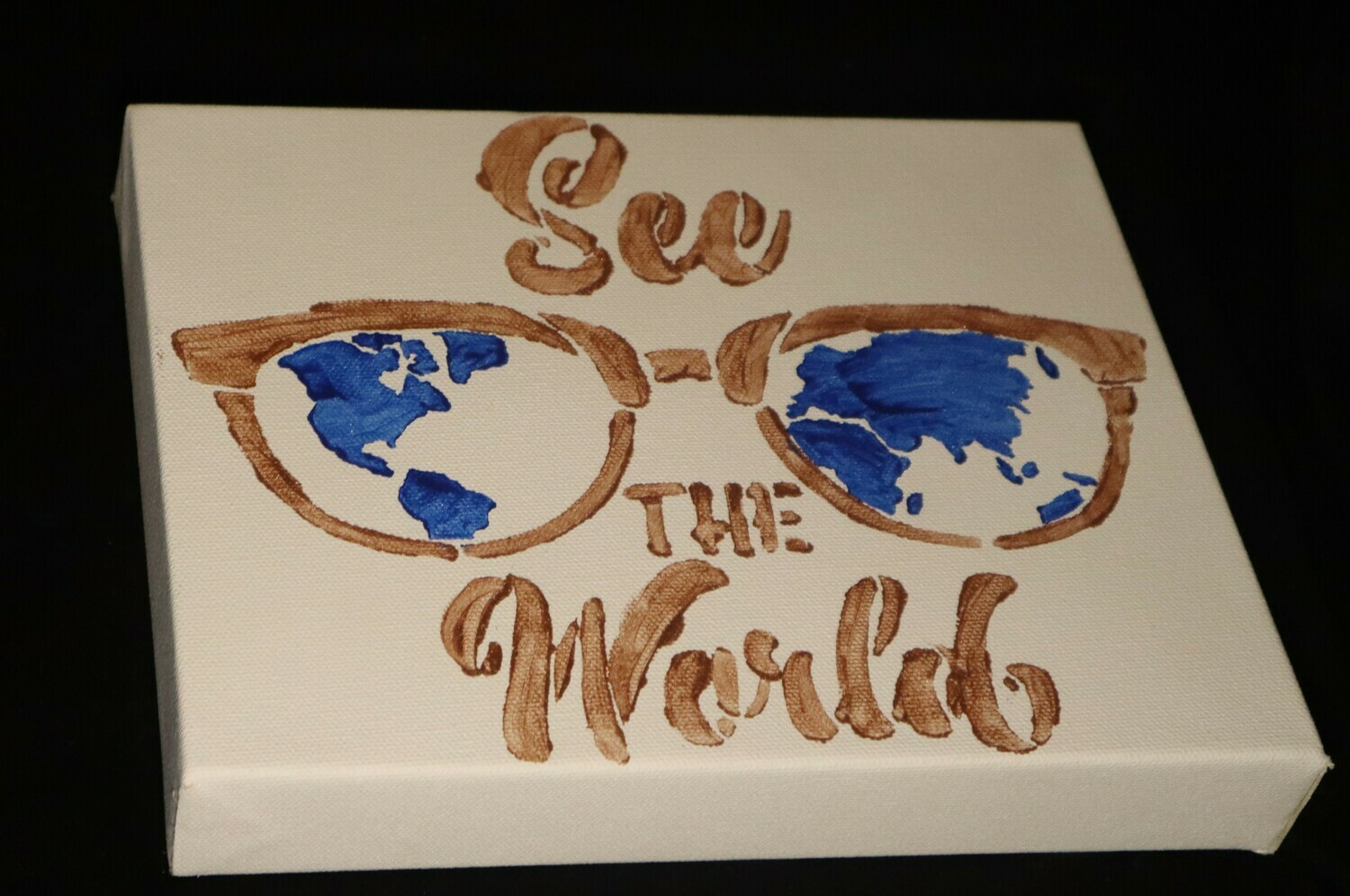 See The World White Background