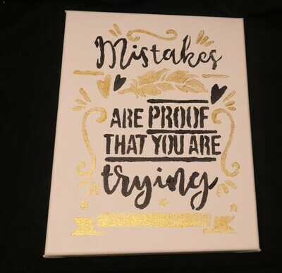 Mistakes Quote Canvas Painting