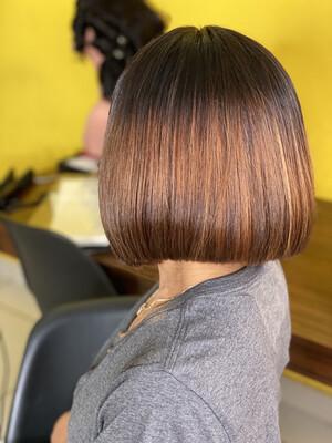 Ombre Brown Closure Wig