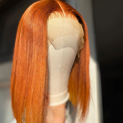 Carrot Frontal  Bob Wig