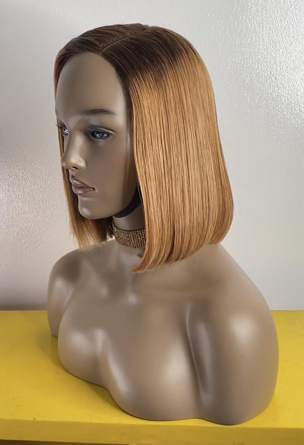 Honey Blonde Closure  Bob Wig