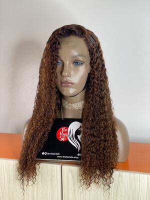 Eurasian Water Curls Frontal Wig (Honey Brown)