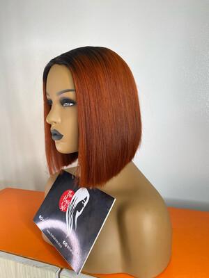 Orange Blunt Cut Wig