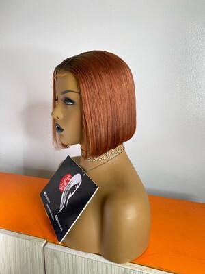 Copper Blunt Cut Wig