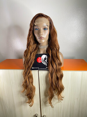 CEDES Wavy Partial Frontal Wig ( 5 by 5) Honey Brown