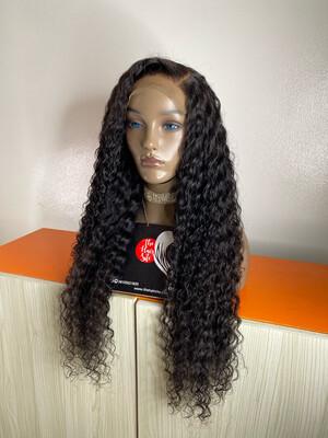 Italian Water Curls ( 5 By 5) Closure Wig