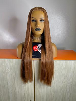 Honey Brown Bone Straight Closure Wig