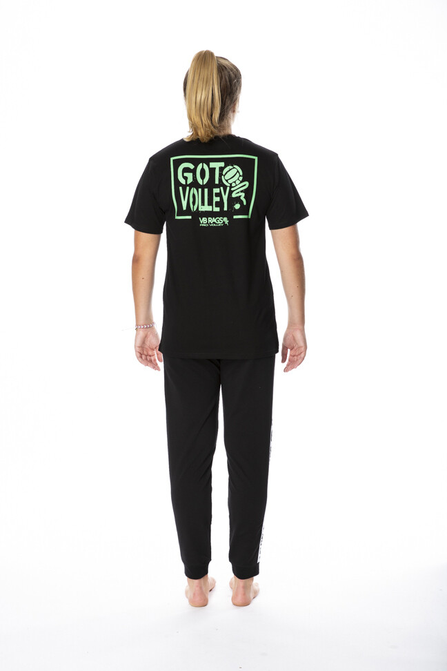 GOT VOLLEY BLACK SHORT SLEEVE TEE