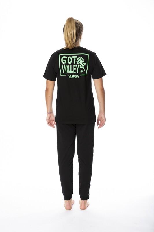 GOT VOLLEY BLACK SHORT SLEEVE TEE