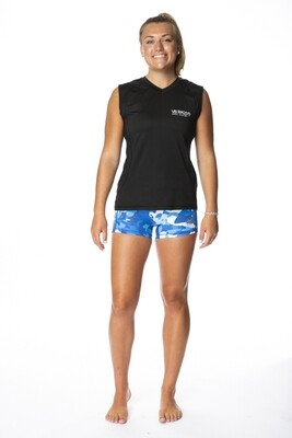 BRING IT BLACK WOMENS  SLEEVELESS PERFORMANCE TEE